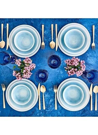 Bella Maison Pure Yemek Tabağı (23) Mavi